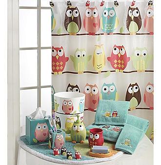 Owl shower curtain at target curtain menzilperde net for Bathroom decor at target