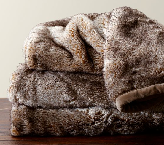 black mink faux fur throw 299 at ethan allen currently they are offering 10 off if you order the most amazing sale but still this blanket is - Faux Fur Throws