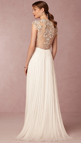 Winnie Gown, BHLDN (obsessed with the back of this dress!)