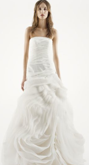 Organza fit and flare, Vera wang, David's Bridal (on sale!)